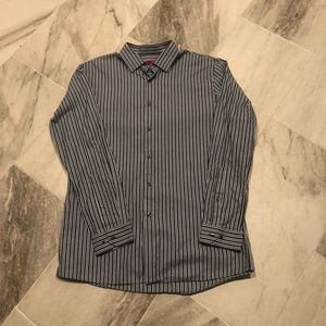 Hugo Boss striped dress shirt. 16.5  34/35